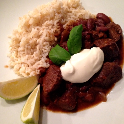 Beef and Chocolate Chilli